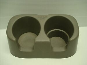 OEM 1999-2003 Ford F250 F350 GREY REAR SEAT DUAL CUP HOLDER GREAT SHAPE & CLEAN