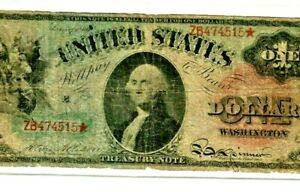 """$1  FR-18  (RAINBOW NOTE) 1869 """"LG.RED SEAL""""  $1 (RAINBOW NOTE) FR-18 RARE!!!!"""