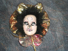 KATZE WANDMASKE   Porzellan Cats WALL MASK Porcelain Maske Wandrelief Deko