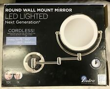 Zadro LEDW710 1X-10X Cordless LED Lighted Next Generation Wall Mount Mirror- NEW
