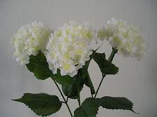 ARTIFICIAL / SILK FLOWERS  HYDRANGEA  IVORY  3 STEMS BUNCH