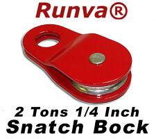 "ON SALE New Runva ATV UTV Recovery 2 Tons/4500lb 1/4"" Winch Snatch Pulley Block"