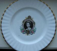 "QUEEN ELIZABETH II Silver Jubilee ROYAL KENT bone china 8"" PLATE Staffordshire"