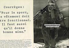 PUBLICITE ADVERTISING 014   1977   Courrèges  vetements de ski  ( 2 pages)