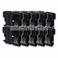 10 BLACK New LC61 Ink Cartridge for Brother MFC-495CW MFC-J410W MFC-295CN LC61BK