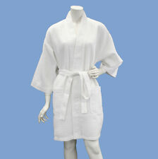 Lot 5 Women's Spa Wedding Bridesmaid Gift Waffle Robes Wholesale White WBR12A