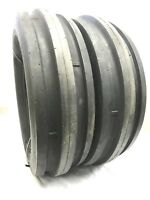 TWO New 9.5L-15 8ply Rated,9.5L15,3 Rib Tractor Farm Tire HEAVY DUTY TUBELESS