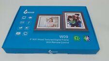 "9"" WIFI wood textured digital frame ( DNT)AA2"