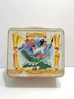 Vintage 1969 Walt Disney Peter Pan Metal Lunch Box Aladdin *No Thermos*