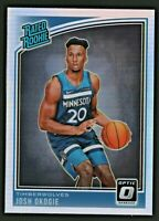 Josh Okogie 2018-19 Optic Holo Silver Refractor RC Rookie # 194 Timberwolves