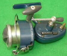 A Mitchell 410A spinning reel in light blue finish, French made