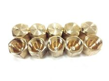 10 Pack 1/4 inch Flare Brass Hex Caps Freon Refrigerant Access Port Covers