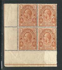 Turks & Caicos Is 43 SG 137 1sh Brown Orange Cnr Block MNH 1921 SCV $48.00*