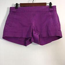 J Crew Shorts Women Size 6 Purple Chino Side Zip