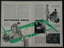 Wheelchair Battery Powered Drive unit 1953 HowTo build PLANS