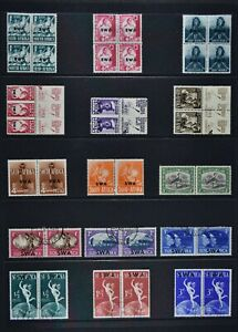 SOUTH WEST AFRICA, a collection of 69 stamps for sorting, MM & used condition.