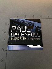 Paul Oakenfold Dj Rare Promo Sticker For Swordfish The Album Original Vintage