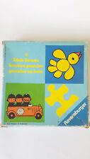 Vintage Retro DICK BRUNA wooden 2 puzzles Ravensburger 1973s