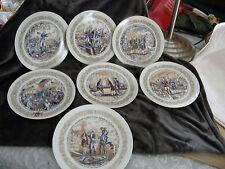 7  Porcelain 8 1/2 Inch Plates by Henri D'Arceaul & Sons LIMOGES,EXCELLENT