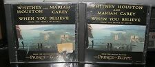 MARIAH CAREY & WHITNEY HOUSTON WHEN YOU BELIEVE PROMO & SEALED CD SINGLE #1