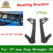 52inch LED LIGHT BAR WINDSHIELD MOUNTING BRACKET FOR 07-now JK JEEP WRANGLER HOT