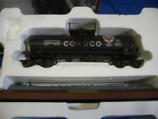 K-LINE K-639104 CONOCO RIVETED TANK CAR WITH DISPLAY PLATFORM  OB