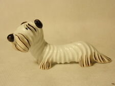 Miniature Metzler Ortloff Porcelain Dog Figurine Germany