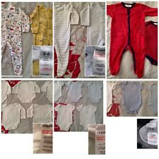 Bundle Of Unisex Boy Girl Newborn 3-6 Months Sleepsuits Bodysuits M&S Matalan