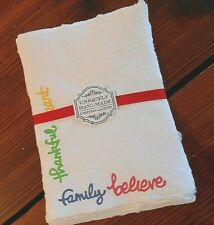 Handmade Paper Sheets  12 sheets - White/Multi (815) Free Shipping