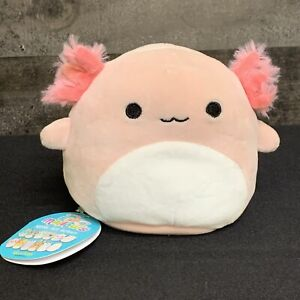 "Squishmallow 5"" Archie Reina Axolotl Butterfly Green Pink Plush Flip A Mallow"