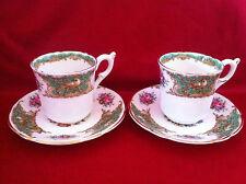 Vintage 1960 coffee set 2 cup and 2 saucer Coalport, England, bone china