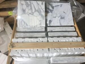 Marble Tiles, Calacatta Extra Polished Marble Tiles Floor / Wall Cover 400x400MM
