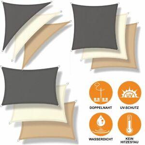 Sonnensegel WASSERDICHT Sonnenschutz Windschutz UV-Schutz Dreieck Rechteck