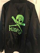 Misfits Nitro Punk Jacket Satin XXL Nylon Neon Skull Auburn Sports Retro Vtg