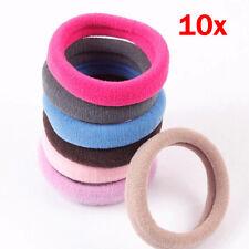 10/Girls Towel Hair Circle Band Seamless High Elastic Rope Large Headdress Clips