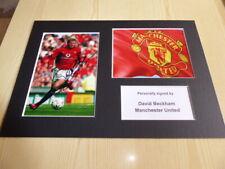 David Beckham Manchester United mounted photograph original autograph signed