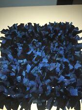 Handmade Blue Plaid & Black Interactive Pet Mat/ Nosework/Snuffle/Pet Toy 24x24