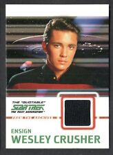 STAR TREK THE QUOTABLE NEXT GENERATION 2005 COSTUME CARD #C9 WESLEY (Black)