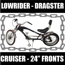 LOWRIDER, DRAGSTER , CHOPPER HARLEY STYLE bike bicycle BLACK