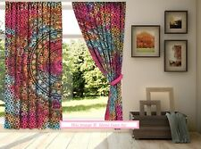 Boho Mandala Tapestry Curtains Decorative Window Valances Throw Sheer Panels