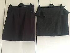 2x Skirts New With Tags Grey Purple Ruffle Size 10
