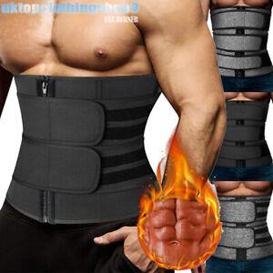 Men's Waist Trainer Cincher Trimmer Sweat Belt Slimming Body Shaper Shapewear UK