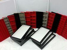 Riker Mount Display Case 14 x 8 - 8 sq Red Insert