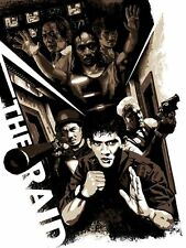 THE RAID REDEMPTION GARETH EVANS LIMITED EDITION MOVIE POSTER SCREEN PRINT