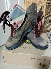 Doc Martens iconic triumph union jack boots 12 eyelet brown size 6