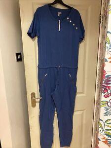Asos Blue T Shirt Drawstring Jumpsuit BNWT Size 12