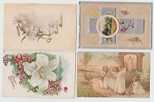 *1913~14 U.S 4 old Postcards, Easter Wishes / A Happy Easter / Greetings for....
