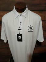 Footjoy Mens Large White Short Sleeve Golf Polo Shirt New