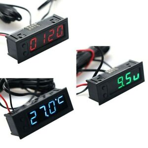 Car Clock r Voltmeter DC 12V Multifunction Temperature Stock Latest HighQuality