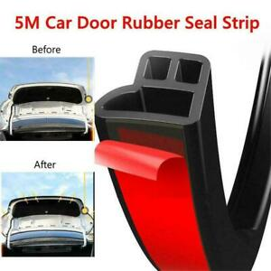 Universal Soundproof Car Door Edge Trim Moulding Seal Strip Rubber Weatherstrip